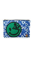 Vivienne Westwood Smiley Face Pouch Blue Multi