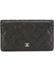 Chanel Vintage Quilted Billfold Wallet Black