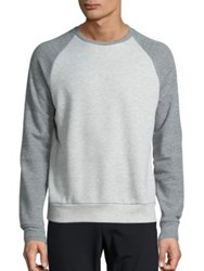 Theory Veton Axis Baseball Sweatshirt Light Heather Multi