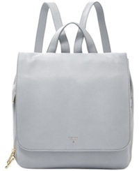 Fossil Preston Leather Backpack Smokey Blue