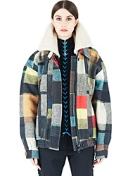Preen Shelley Short Patchwork Jacket Brown