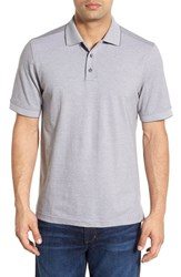 Men's Nordstrom Men's Shop 'Classic' Regular Fit Short Sleeve Oxford Pique Polo Grey Pearl