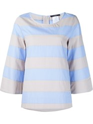 Odeeh Striped Blouse Blue