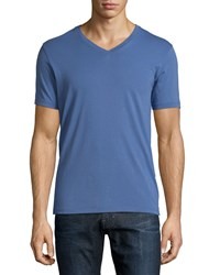 Ag Adriano Goldschmied Short Sleeve V Neck T Shirt Blue