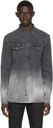 Balmain Grey Denim Ombra Shirt