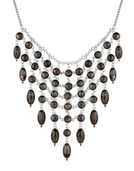 Lucky Brand Faceted Statement Collar Necklace Silver