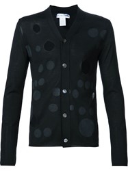 Comme Des Gara Ons Shirt Cut Out Dotted Cardigan Black