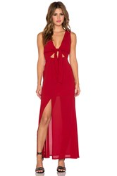 Wyldr All Wrapped Up Maxi Dress Red