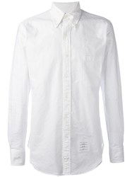 Thom Browne Distressed Oxford Shirt White