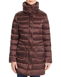 Basler Padded Collar Down Coat Red