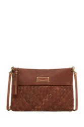 Ugg Mariana Woven Leather Clutch Brown