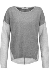 Duffy Two Tone Cashmere Sweater Anthracite