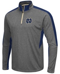 Colosseum Men's Notre Dame Fighting Irish Atlas Quarter Zip Pullover Charcoal Navy