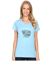 Fjall Raven Watercolour Fox T Shirt Bluebird Women's T Shirt