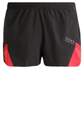 Gore Running Wear Air Sports Shorts Black Red