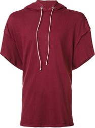 Mr. Completely Shortsleeved Hoodie Red