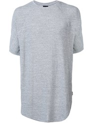 Publish Long Length T Shirt Grey