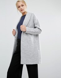 Selected Darla Cardi Coat Light Grey Marl