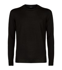 Boss T Ion Wool Silk Jumper Male Black