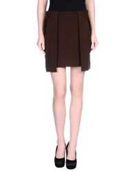 Paolo Pecora Knee Length Skirts Dark Brown