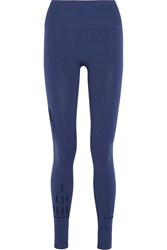 Ivy Park Perforated Stretch Jersey Leggings Navy