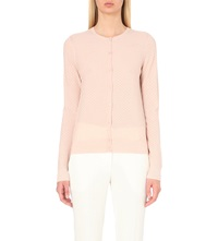 Hugo Boss Fae Textured Wool Cardigan Light Pastel Pink