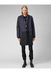 Peter Jensen Two Tone Mac Trench Navy And Black