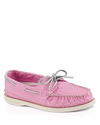 Sperry Flat Lace Up Boat Shoes A O Washed Pink