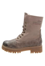 S.Oliver Laceup Boots Pepper Dark Grey