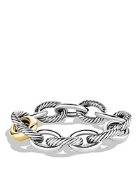 David Yurman Oval Chain Extra Large Link Bracelet With Gold Silver Gold