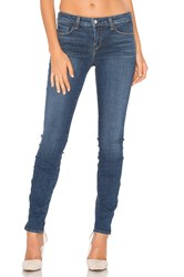 L'agence Chanelle Mid Rise Skinny Zip Jean Dark Vintage