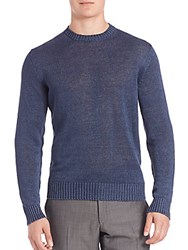 Corneliani Linen Sweater Blue