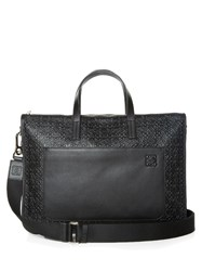 Loewe Toledo Logo Debossed Leather Briefcase