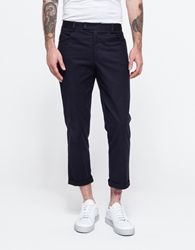 Five Pocket Cropped Cuff Pant Navy