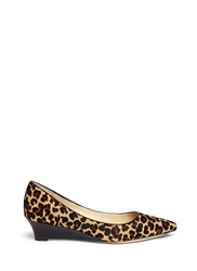 Cole Haan 'Bradshaw' Leopard Calf Hair Wedge Pumps Animal Print