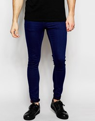 Pull And Bear Pullandbear Super Skinny Fit Jeans In Mid Wash Blue