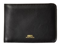Obey Gentry Bi Fold Wallet Black 1 Wallet Handbags
