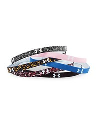 Under Armour Mini Graphic Headband Set Of 6 Printed Multi