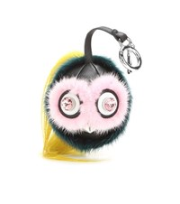Fendi Bag Bugs Mink Fur And Leather Charm Multicoloured