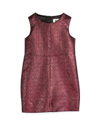 Milly Minis Sleeveless Metallic Jacquard Sheath Dress Fuchsia Pink