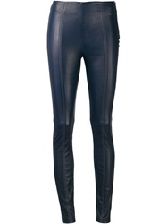 T By Alexander Wang Side Zip Leggings Blue