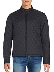 Vince Camuto Quilted Long Sleeve Jacket Black
