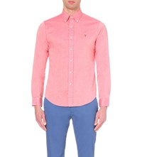 Ralph Lauren Slim Fit Cotton Oxford Shirt Red