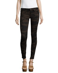 True Religion Denim Camo Print Leggings Black