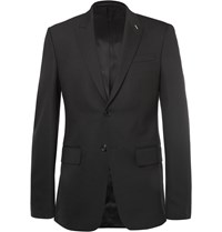 Givenchy Black Slim Fit Wool Blend Suit Jacket