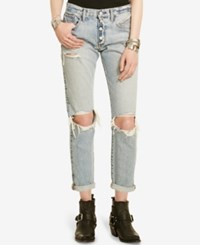 Denim And Supply Ralph Lauren D S Linden Ripped Bennett Wash Boyfriend Jeans