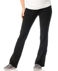 Motherhood Maternity Foldover Waist Maternity Yoga Pants Black