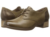 Dansko Louise Taupe Burnished Nappa Women's Lace Up Casual Shoes Brown