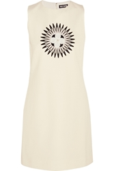Holly Fulton Embellished Wool Twill Mini Dress