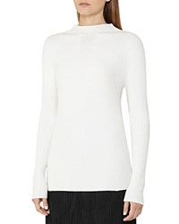 Reiss Poppy Ribbed Sweater Off White